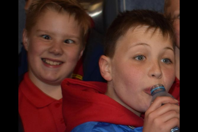 Finlay Williams, left, with his late friend Dominic