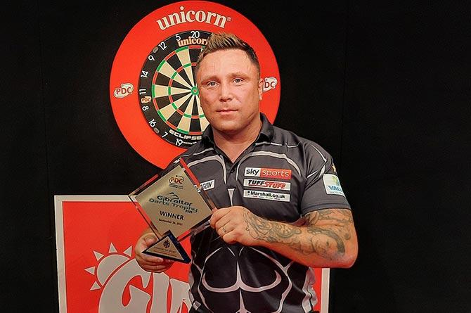 Gerwyn Price has won the 2021 Gibraltar Darts Trophy