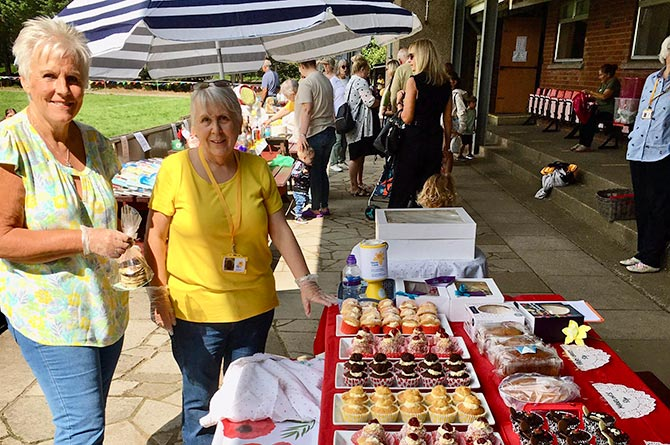 A cake sale was held at the Marie Curie 'Teddy Bear Picnic' event in Bedwas