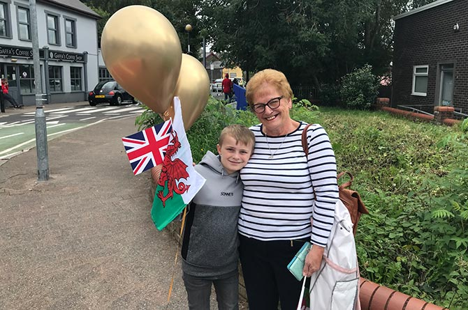 Mandy Saunders and nine-year-old grandson Ollie