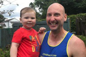 Richard Wilks, with family friend Josh, who had a liver transplant during the coronavirus lockdown