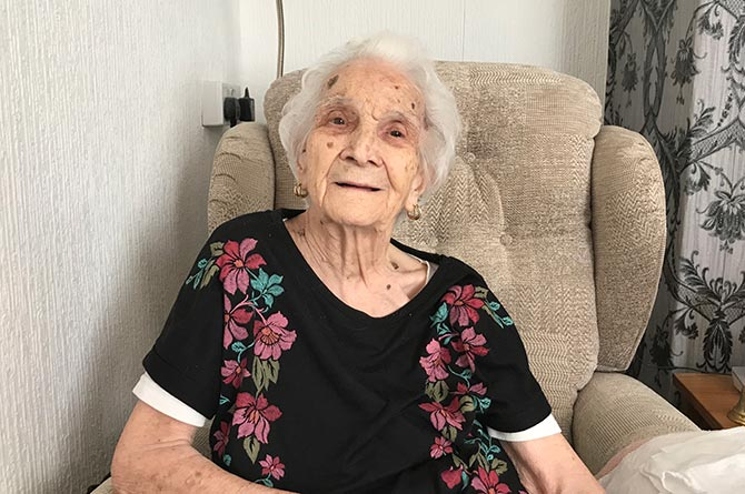 Florence Howarth has celebrated her 100th birthday