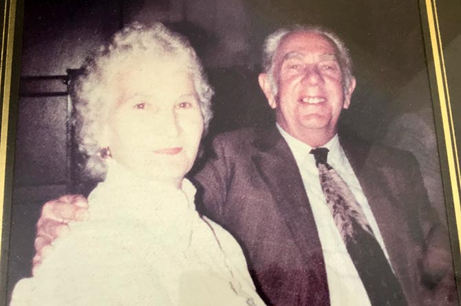 Florence with late husband Archie
