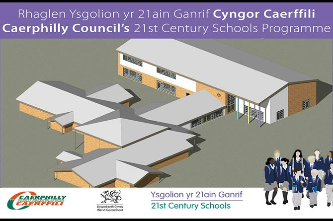 An artist's impression of the expanded Llanfabon Primary School in Nelson