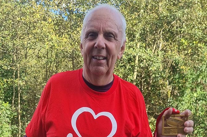 Phil Fiander ran a virtual half marathon earlier this year, and will run the Cardiff Half Marathon in March