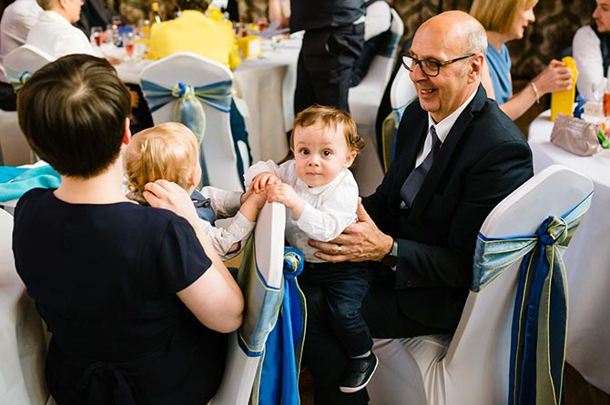 Dave Fiander at his niece Emma's wedding following his heart attack