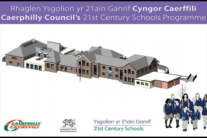 An artist's impression of the proposed new pupil referral unit in Pontllanfraith