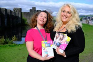 Esme Barrera and Delyth Williams, of Smart Money Cymru, with the new Smart Goods brochures