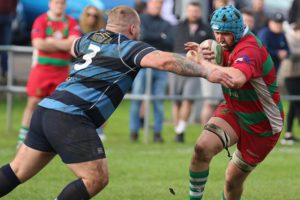 Bedwas' Craig Hudd in action against Trebanos